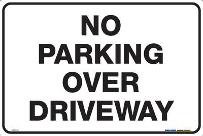 NO PARKING OVER DRIVEWAY 450x300 MTL