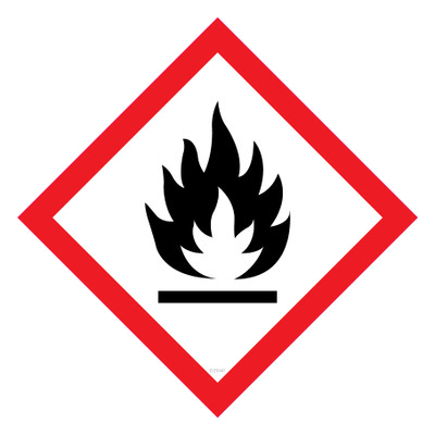 GHS Label FLAMMABLE 15x15 - Pack x40 Decals