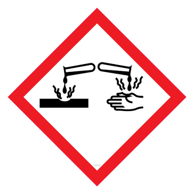 GHS Label CORROSIVE 15x15 - Pack x40 Decals