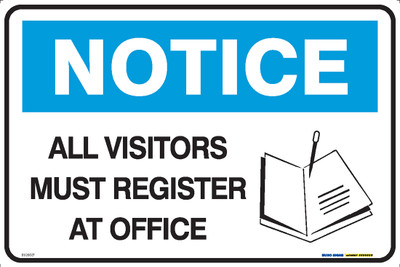 NOTICE MUST REGISTER AT OFFICE BOOK 450x300 MTL