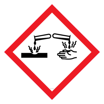 GHS Label CORROSIVE 50x50 - Pack x12 Decals