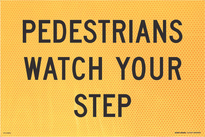 900x600 PEDESTRIANS WATCH YOUR STEP - CORFLUTE