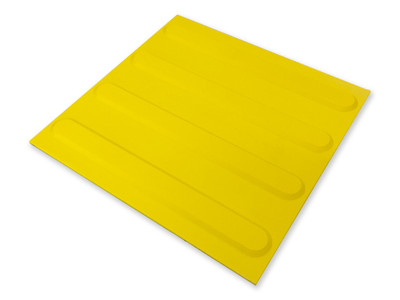 Tactile 300x300 DIRECTIONAL YELLOW Self Adhesive Polyurethane