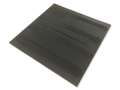 Tactile 300x300 DIRECTIONAL BLACK Self Adhesive Polyurethane