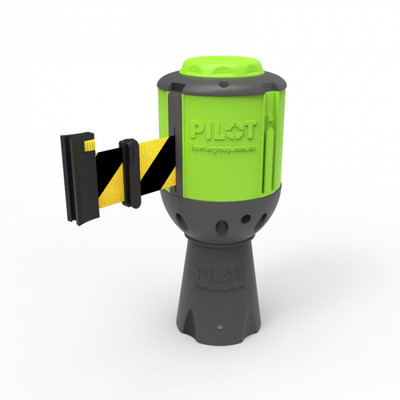 Pilot 10m Belt Barrier - Black/Yellow