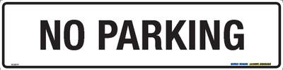 NO PARKING BLK/WHT 400x100 MTL