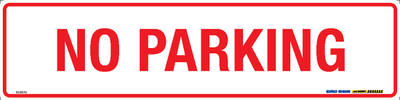 NO PARKING RED/WHT 400x100 MTL
