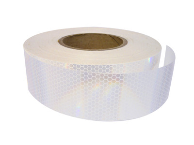 50mm Class 1 Reflective Tape WHITE 45.7 metre ROLL