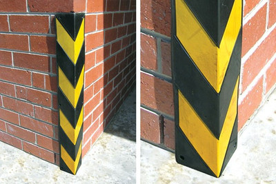 Corner protector square 100 x 100 x 800mm BLACK/YELLOW