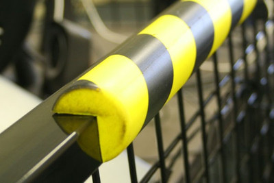 Polyurethane Anti collision strip 1m black and yellow -V- profile