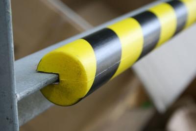 Polyurethane Anti collision strip 1m black and yellow -C- profile