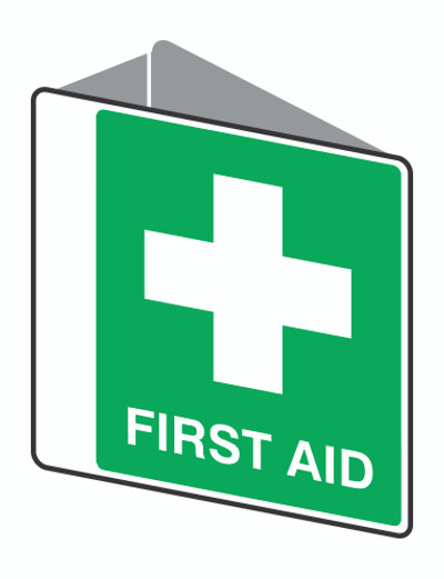 FIRST AID - D/SIDED ' V ' POLY 225x225