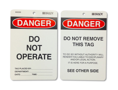 DANGER DO NOT OPERATE - CARDSTOCK x100