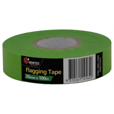 Flagging Tape Fluoro GREEN 25mm x 100m