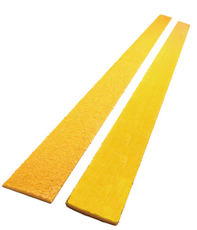 Anti Slip FLAT Tread Yellow Fibreglass 1.2mtr x 50mm