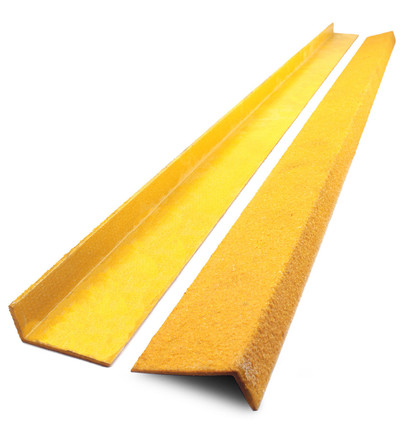 Anti Slip Stair NOSING Yellow Fibreglass 70x30mm x 1.2mtr