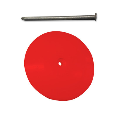 Line-O-Dot (Plastic) RED c/w Galvanised Nail
