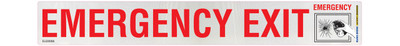 EMERGENCY EXIT BREAK GLASS 300x40 DECAL CLASS 2