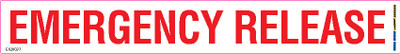 EMERGENCY RELEASE 300x40 DECAL CLASS 2