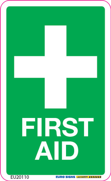 FIRST AID 55x90 DECAL