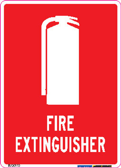 FIRE EXTINGUISHER 90x125 DECAL