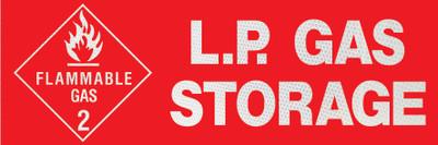 L.P GAS STORAGE CLASS 1 DECAL 150x55
