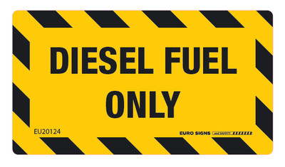 DIESEL FUEL ONLY 90x50 DECAL