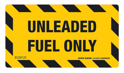 UNLEADED FUEL ONLY 90x50 DECAL