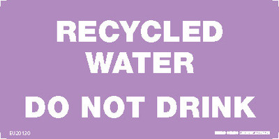 RECYCLED WATER DO NOT DRINK 150x75 COMP