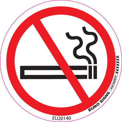 NO SMOKING 100MM DIA DECAL