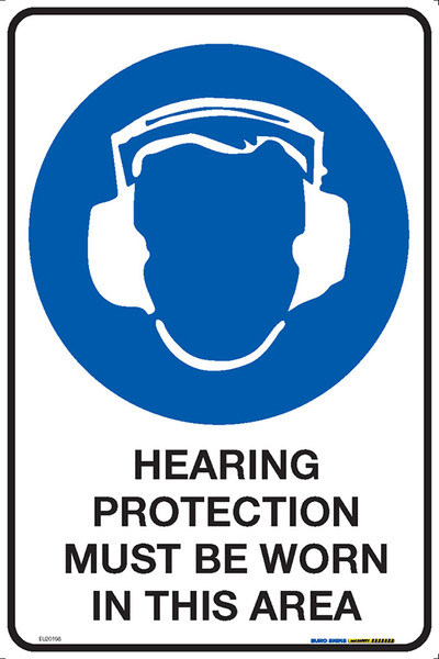 HEARING PROTECTION MUST BE WORN IN THIS AREA 300x450 MTL