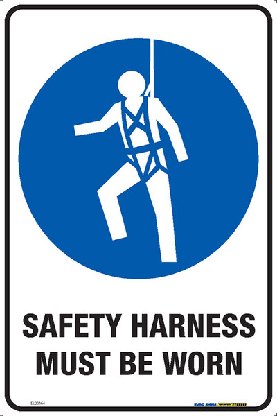 SAFETY HARNESS MUST BE WORN 300x450 MTL