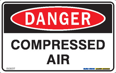 DANGER COMPRESSED AIR 200x125 POLY