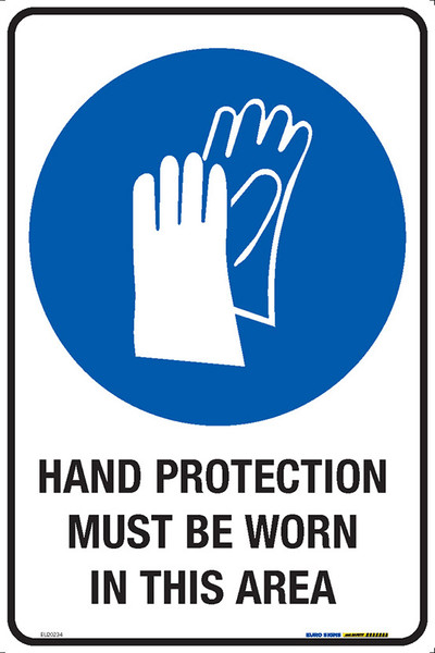 HAND PROTECTION MUST BE WORN IN THIS AREA 300x450 MTL