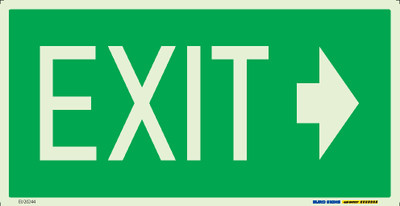 EXIT >> 350x180 LUM. DECAL (ARROW RIGHT)