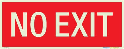 NO EXIT 450x180 LUM. DECAL