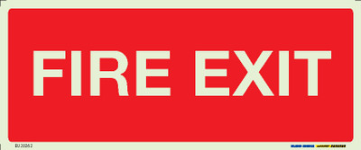 FIRE EXIT 300x125 LUM. DECAL