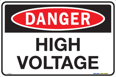DANGER HIGH VOLTAGE 450x300 MTL