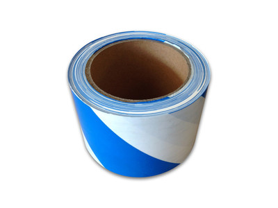 Barricade Tape BLU/WHT 50mx75mm