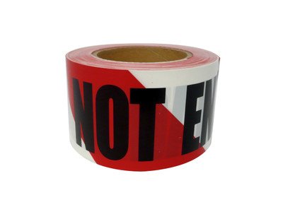 Warning Tape DO NOT ENTER Red/Wht 100mx75mm