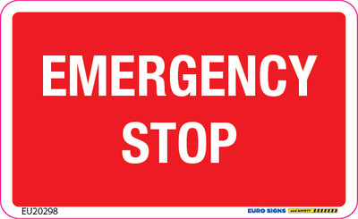 EMERGENCY STOP 90x55 - DECAL