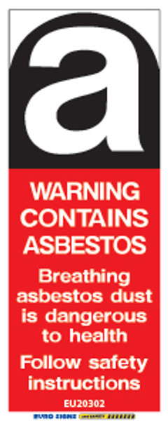 WARNING ASBESTOS - 20x50 - DECAL