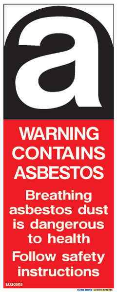 WARNING ASBESTOS - 40x100 - DECAL