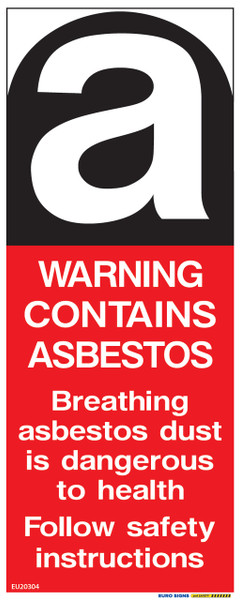 WARNING ASBESTOS - 100x250 - DECAL