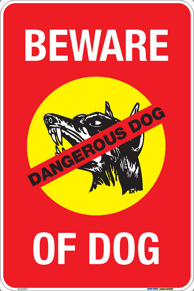 BEWARE OF DOG - 300x450 MTL