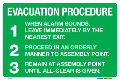 EVACUATION PROCEDURE 450x300 MTL