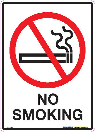NO SMOKING 180x250 DECAL