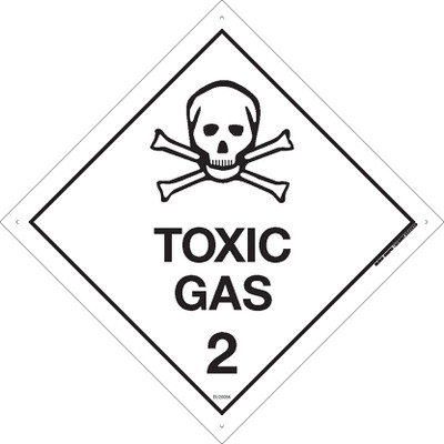 Class Label TOXIC GAS 2 100x100 DECAL