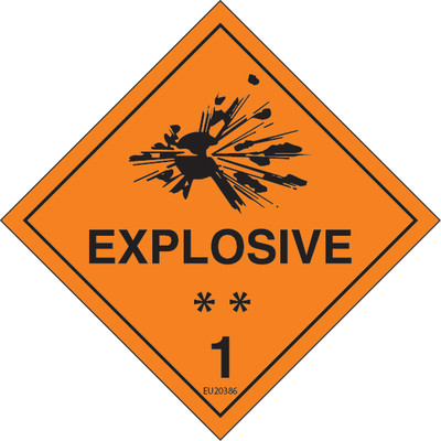 Class Label EXPLOSIVE 1 100x100 DECAL