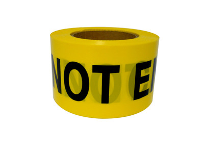 Caution Do Not Enter Barricade Tape BLK/YLW 100mx75mm roll